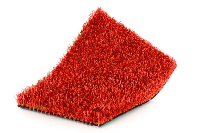 Césped artificial color kids Rojo, llamativo y único.