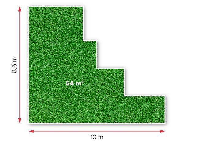 Medidas generales superficie rectangular