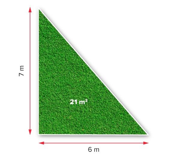 Medidas generales superficie triangular