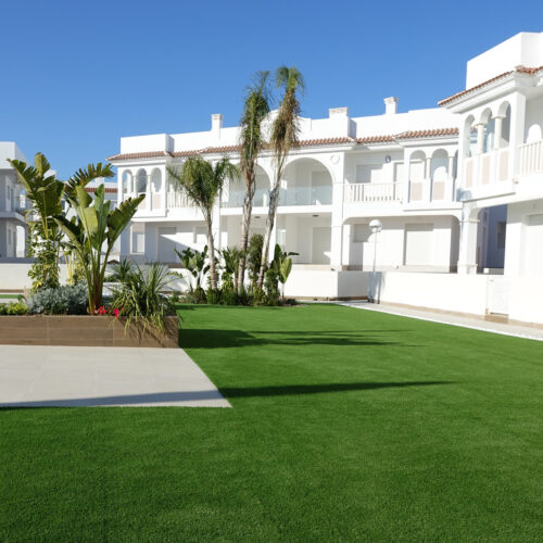 Romeo artificial grass. Residential complex