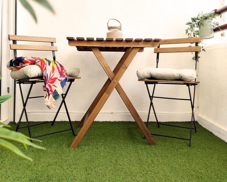 Elegir césped artificial para terraza