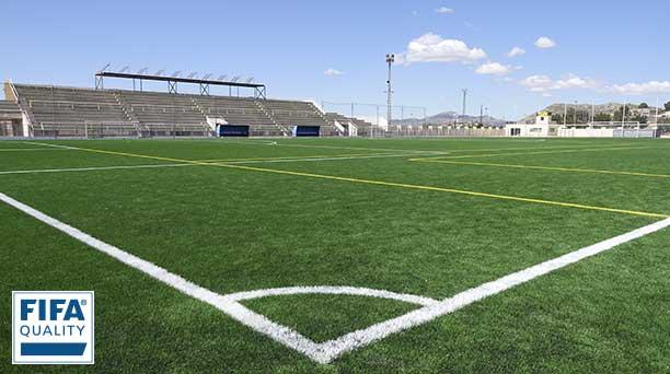 Petrer (Alicante) Campo de fútbol con césped artificial Xtreme Pro con certificado FIFA Quality