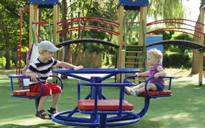 Artificial grass for children playgrounds