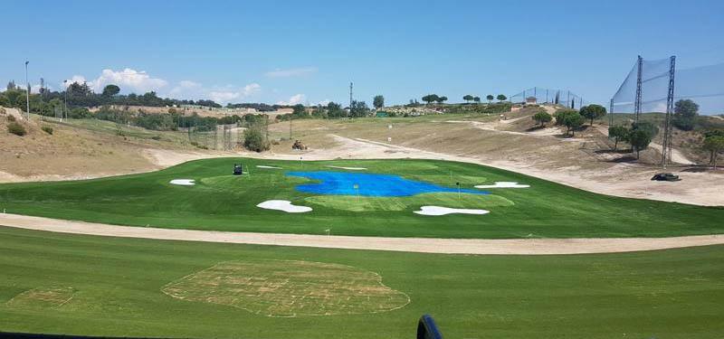 Reforma del campo de prácticas del Centro Nacional de Golf