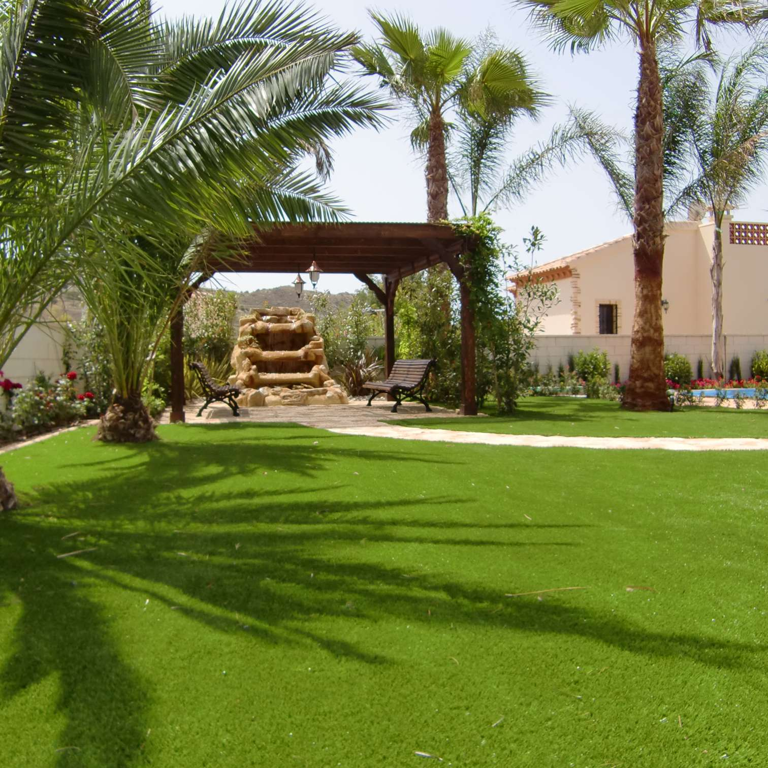 C sped artificial en alicante real turf - Cesped artificial jardin ...