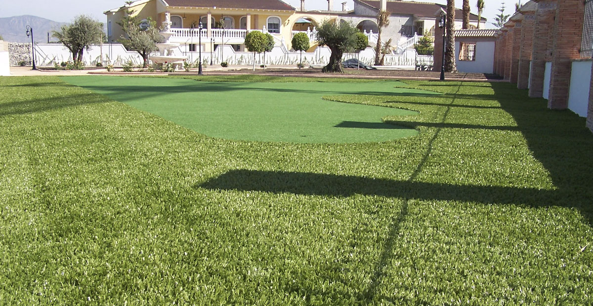 Campo Golf Césped Artificial Catral