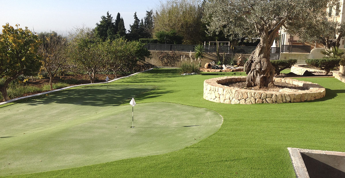 Campo Golf Césped Artificial Mallorca