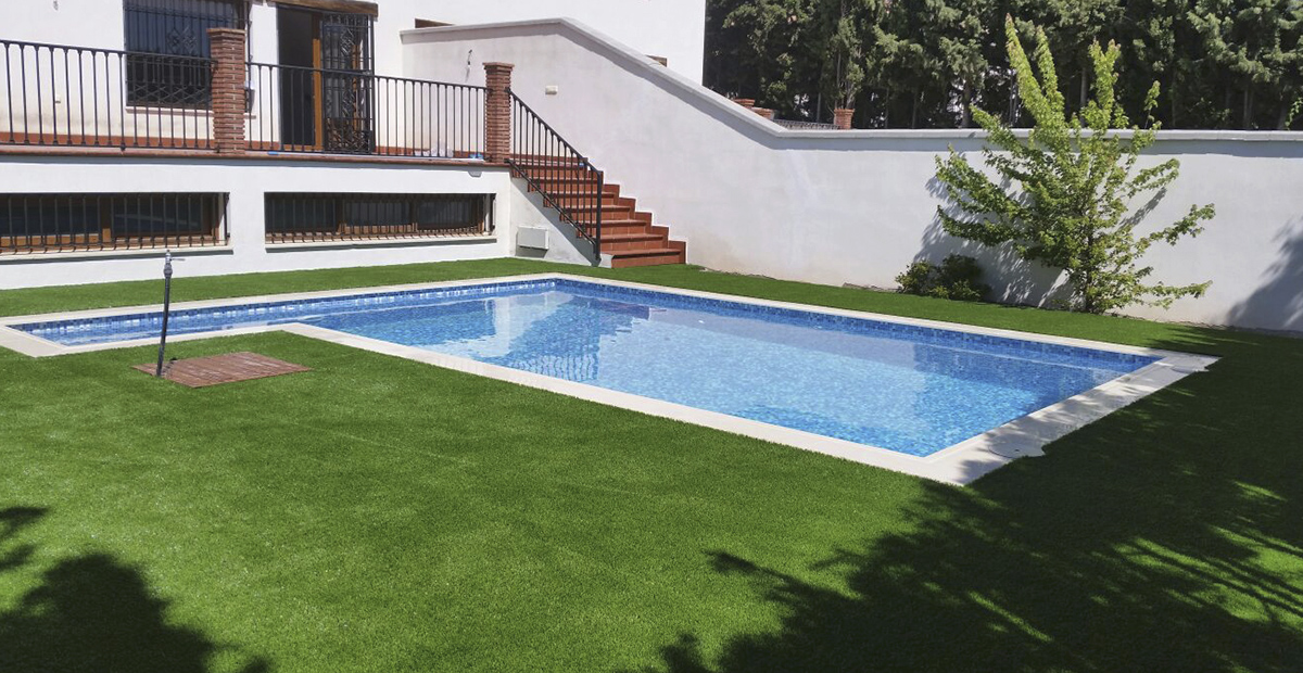 Césped Artificial para Piscina Mallorca